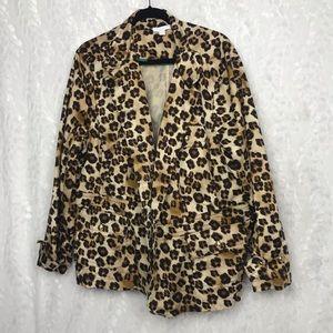 Charter Club leopard print blazer jacket 24w